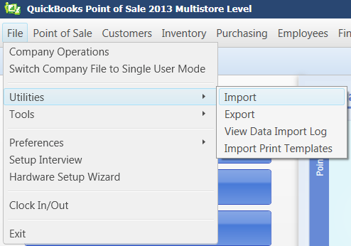 Quickbooks Point Of Sale Data Import Wizard Instructions