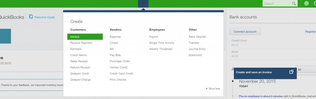 create a invoice online