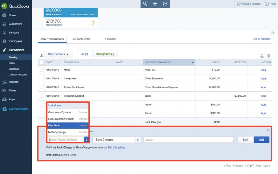QuickBooks™ Online: Categorize and Match Bank Transactions
