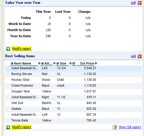 QuickBooks™ Point of Sale: Customize Your Reports Dashboard And Experie
