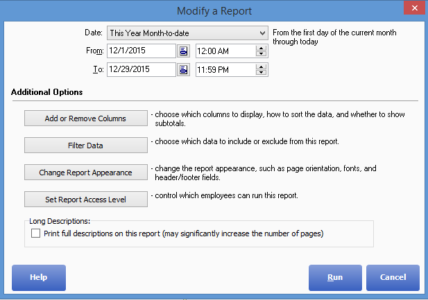 QuickBooks™ Point of Sale: Customize Your Reports Dashboard