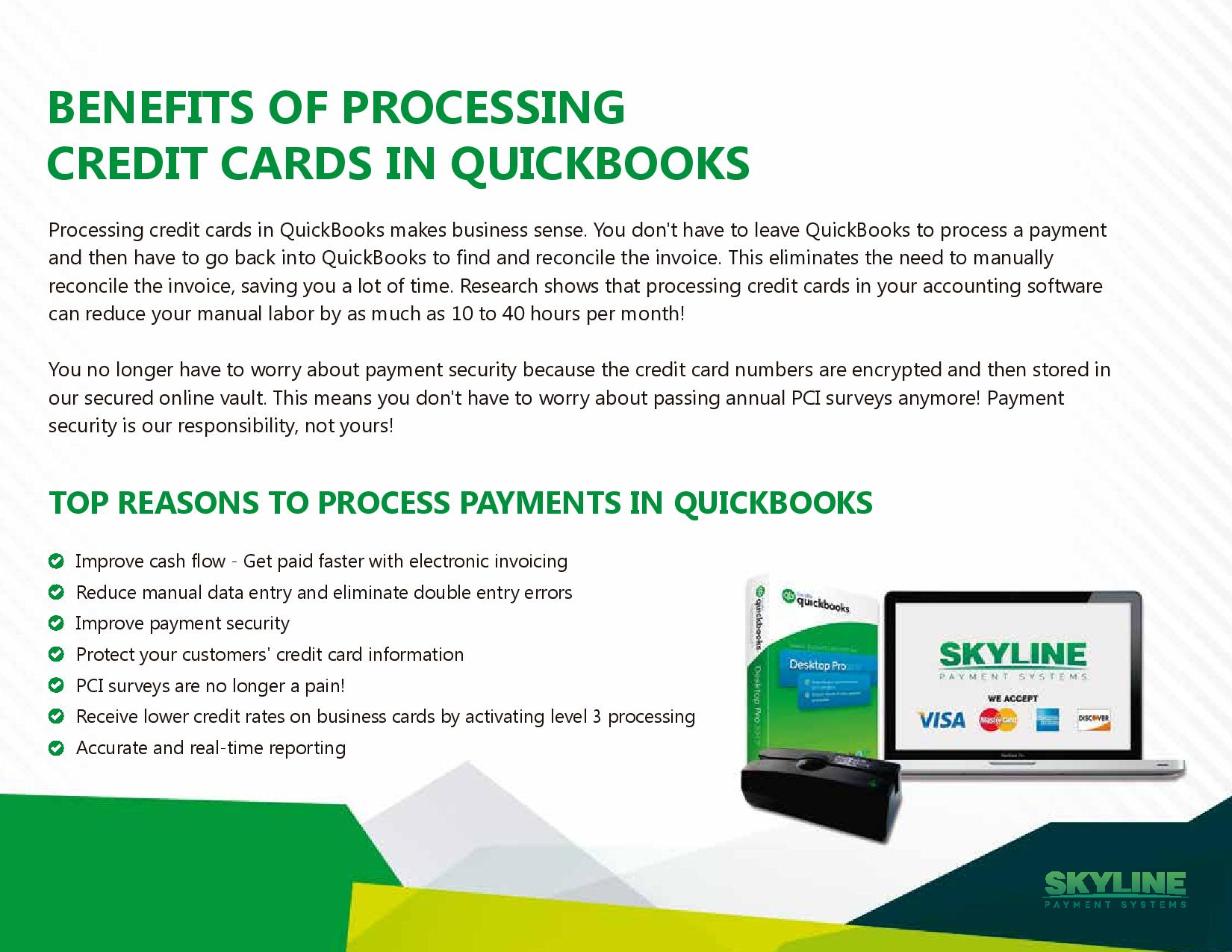 CREDIT CARD PROCESSING - Quickbooks invoice credit card payment